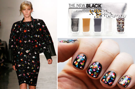 diy nail art manicure suno fall 2012 collage