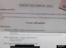 All Are Invited To Attend This Class Reunion Party -- So Long As You're White