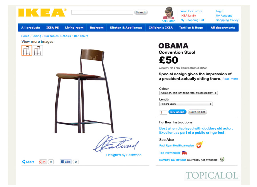 clint eastwood obama chair