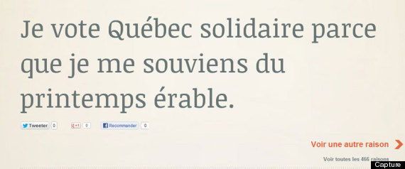 SITE WEB QUEBEC SOLIDAIRE