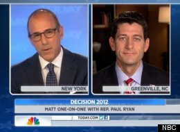 Matt Lauer Paul Ryan