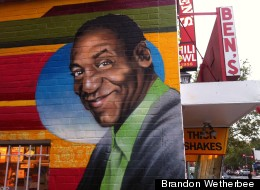 LOOK: Cosby, Obama Featured On New Mural At Famous Spot