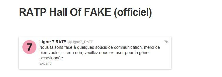 ratp hall of fake