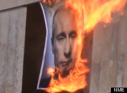Pussy Riot Fans Burn Putin Effigy In Hard-Hitting Video
