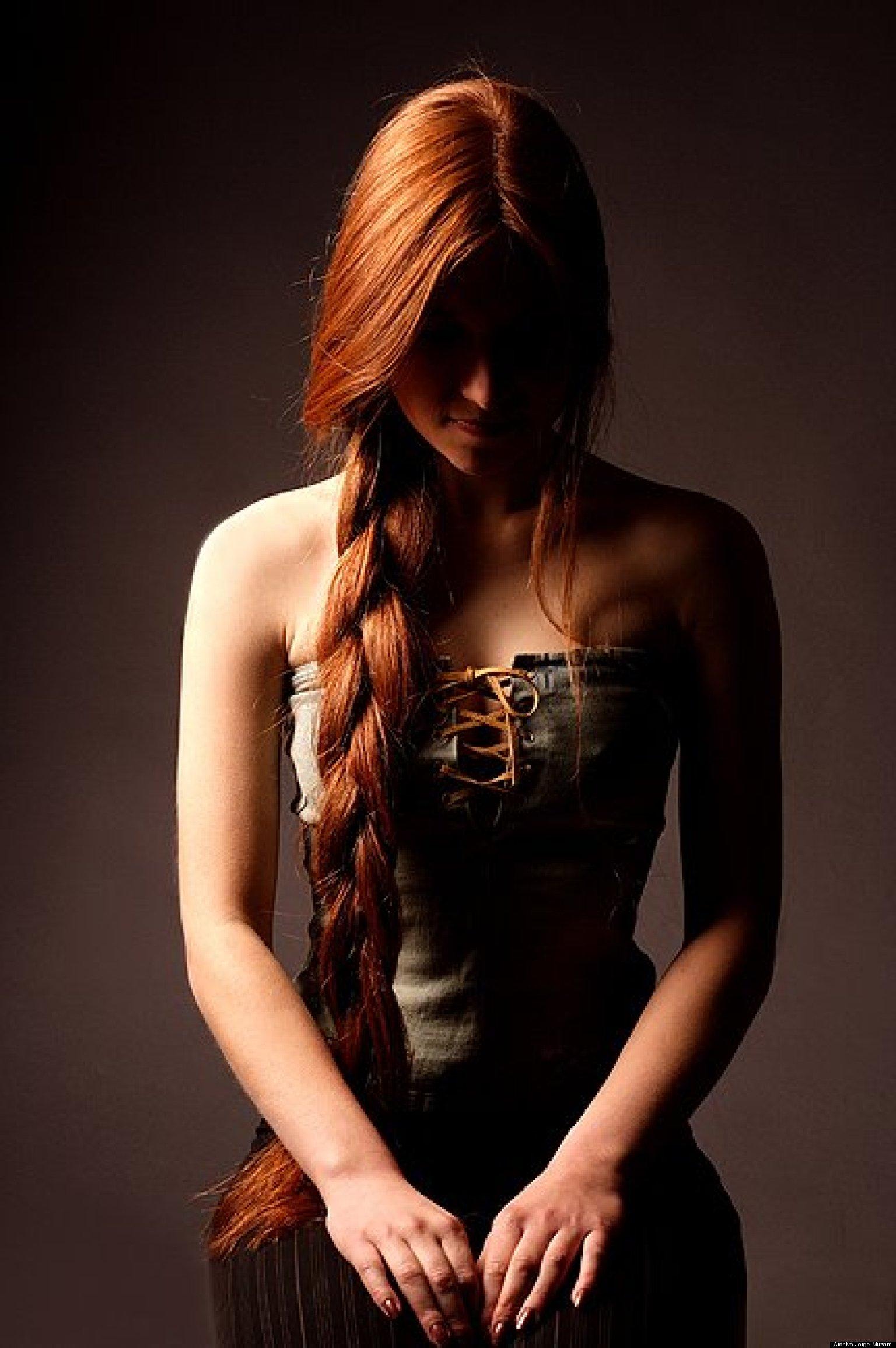 Рыжая косичка девка 12 фотография