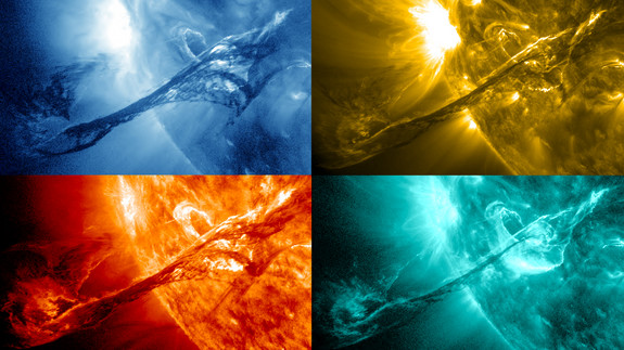 solar storm photos