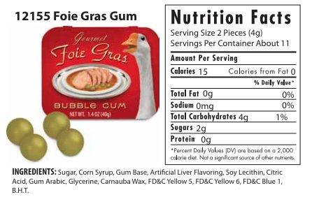 foie gras bubble gum