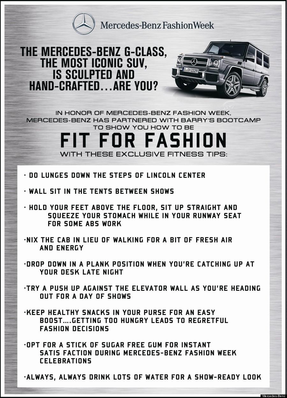 fashion week fitness