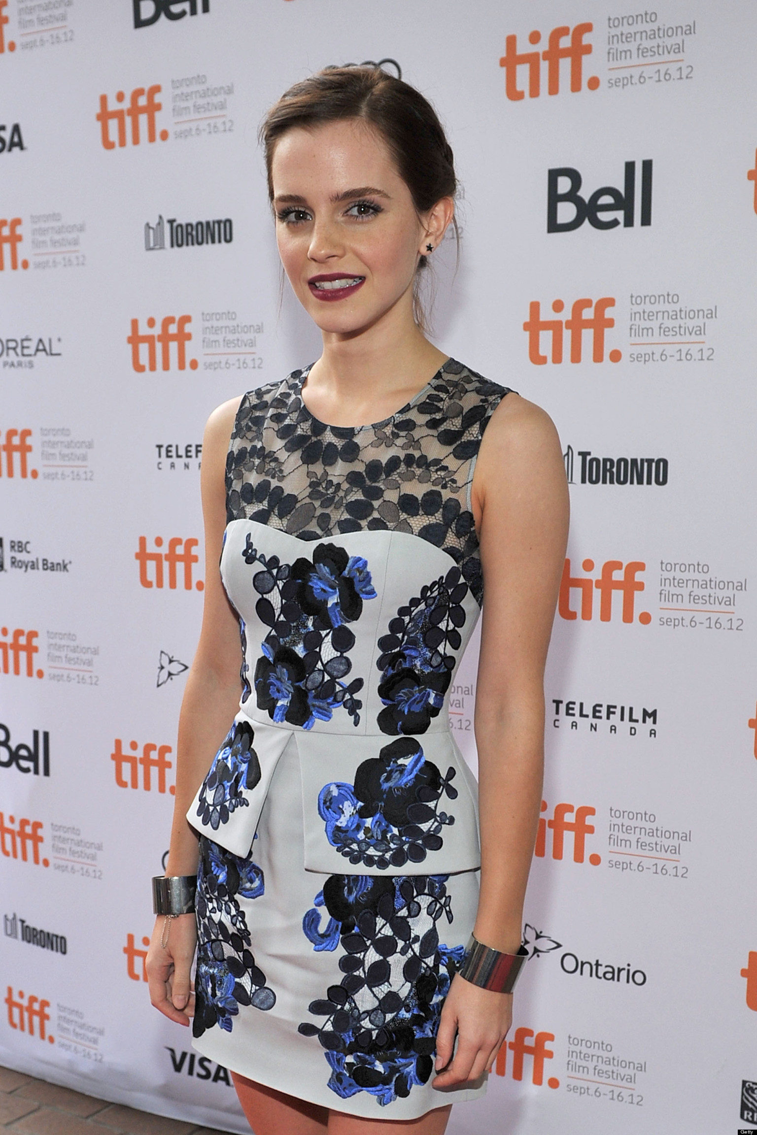 Emma Watson Tiff 2012 Actress Walks Red Carpet In Outfit