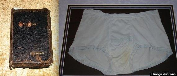 Elvis Presley Dead On Toilet Elvis bible underpants