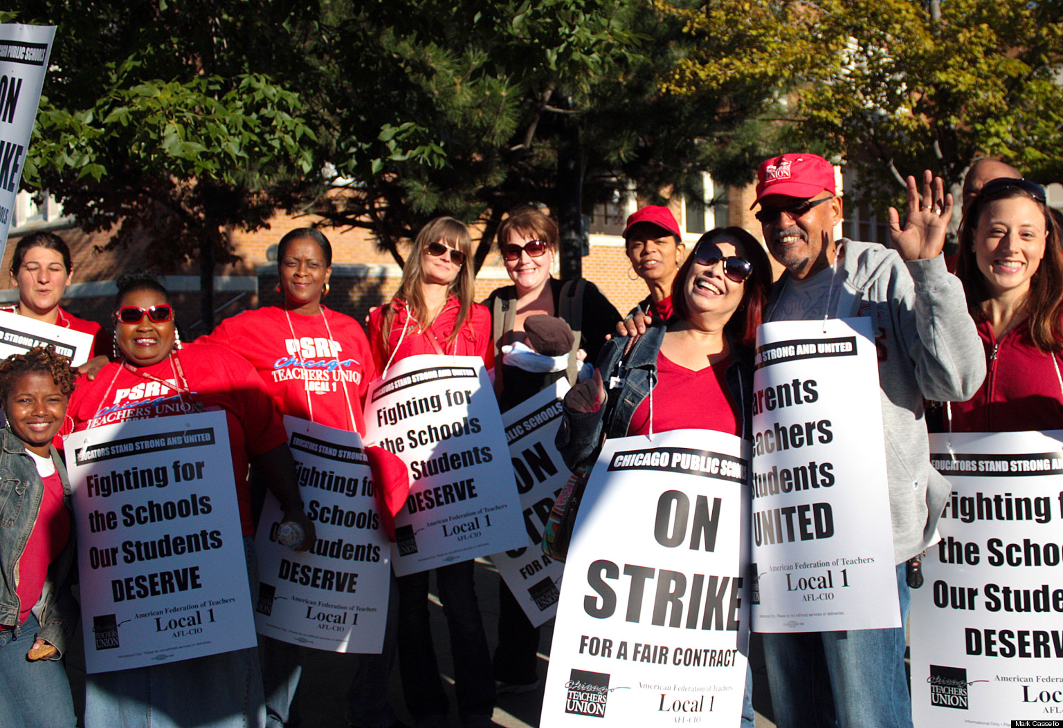 Chicago Teachers On Strike, Hit The Picket Line On ...