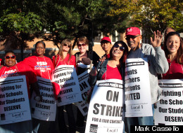 Chicago Teachers On Strike Picket Line Photos