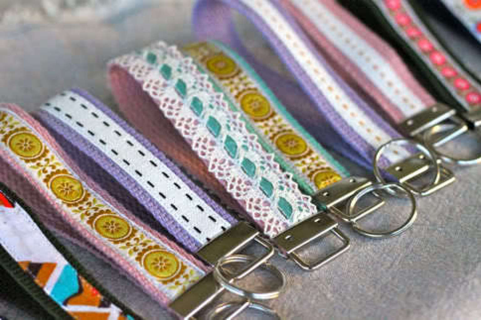 Craft Of The Day Make A Cute Ribbon Wristlet Key Fob