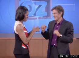 WATCH: Michelle Obama Teaches Dr. Oz How To Dougie