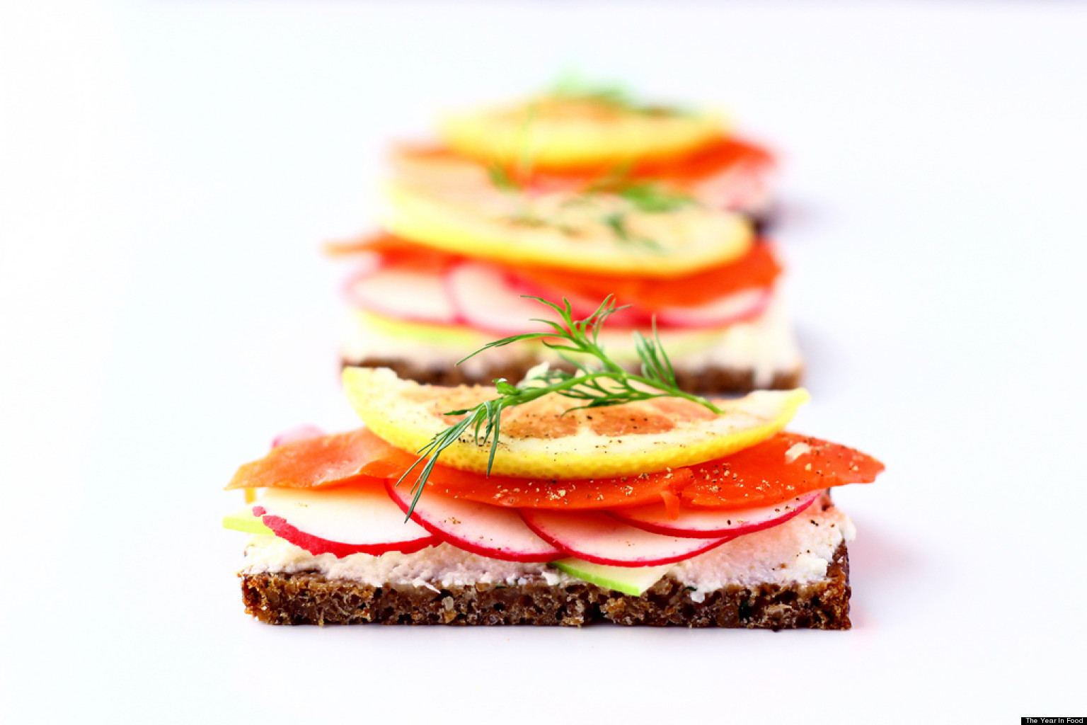 Open-Face Smoked Salmon And Avocado Sandwiches Recipes — Dishmaps