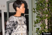 Rihanna Teams Extremely Short Hair With Extremely Short Shorts