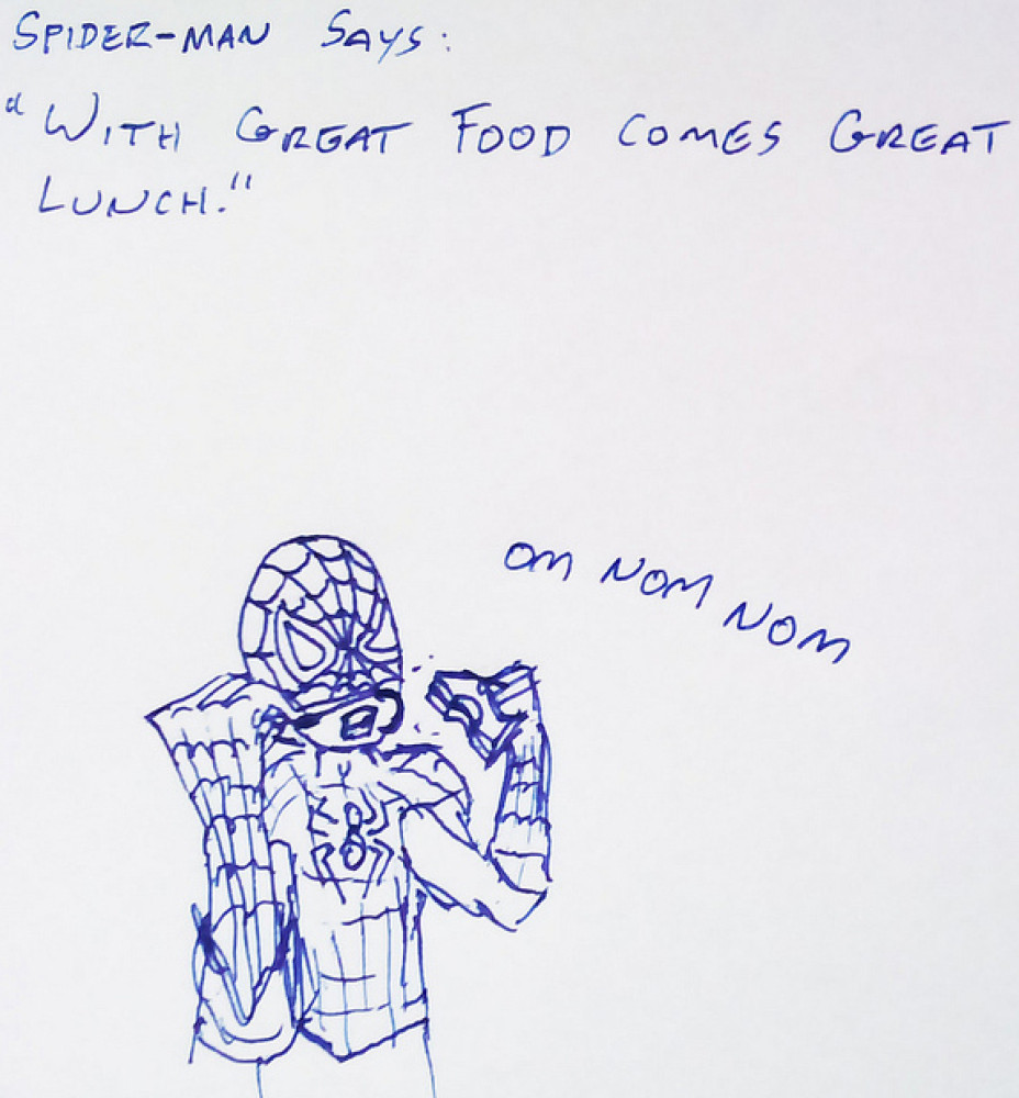 superhero lunch cartoons
