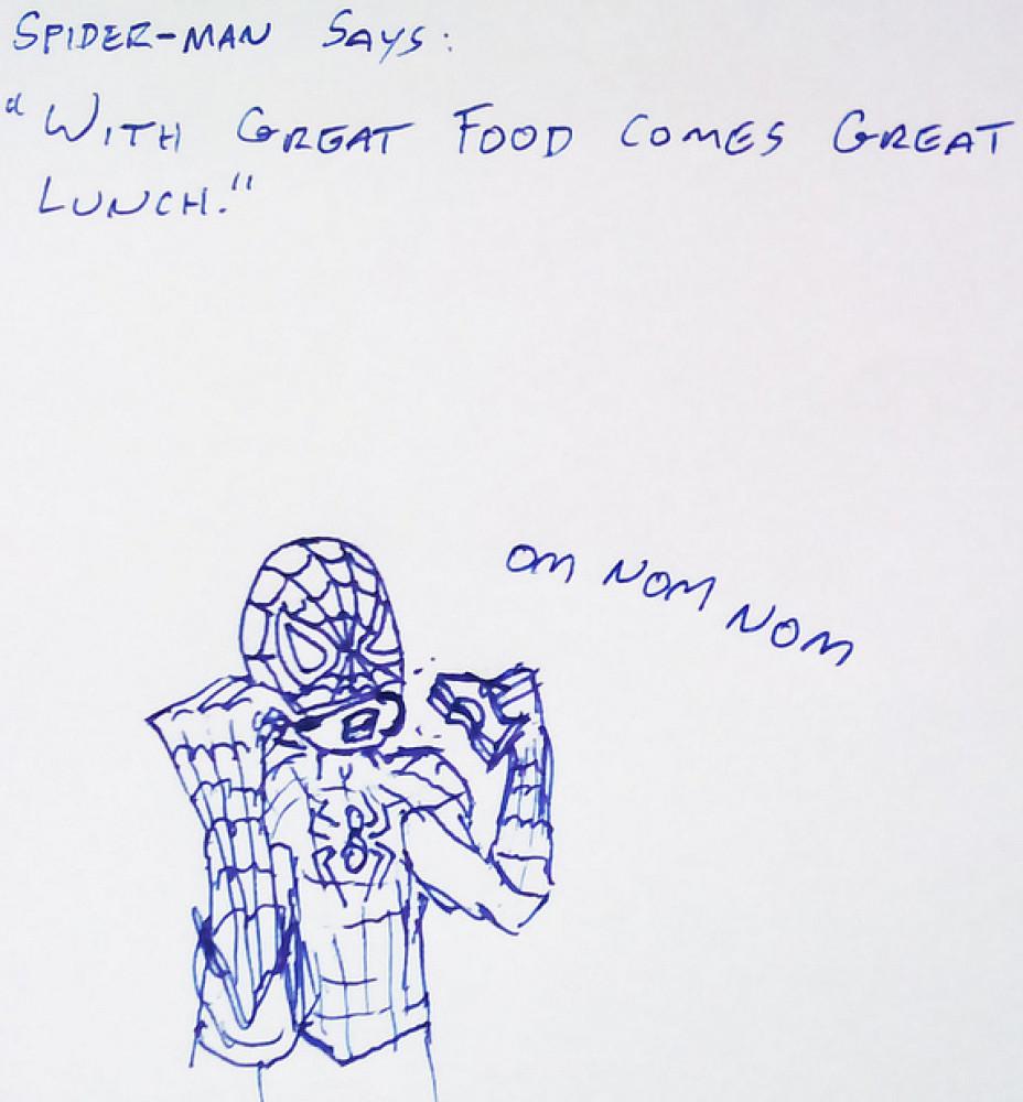 superhero lunch cartoons