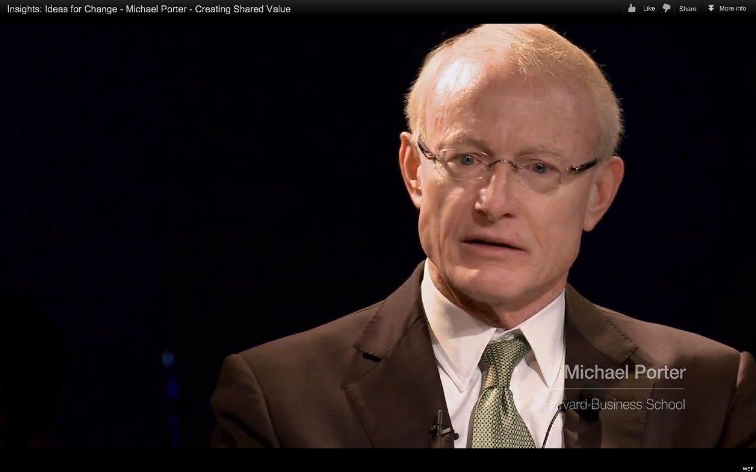 Michael porter on creating shared value video for Porter porter