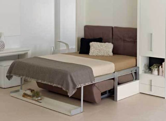 Small space living ron barth from resource furniture Living spaces furniture