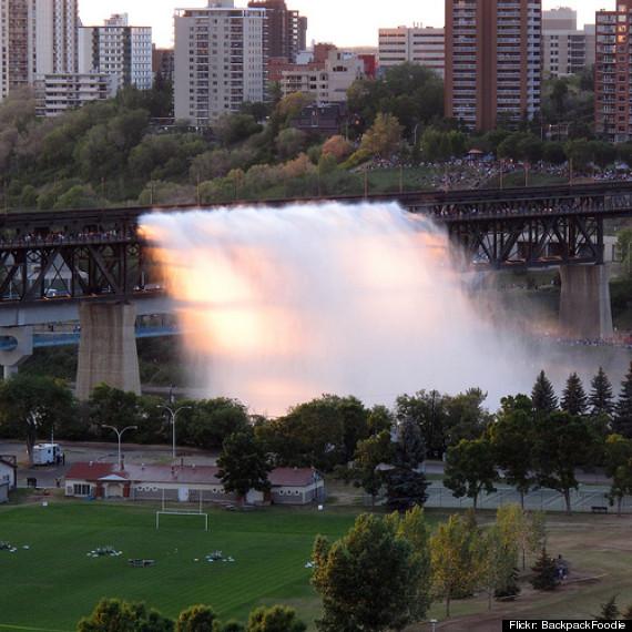 high level bridge waterfall