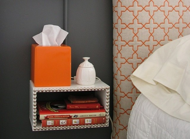 Diy idea build a simple floating nightstand photo for Space saving nightstand