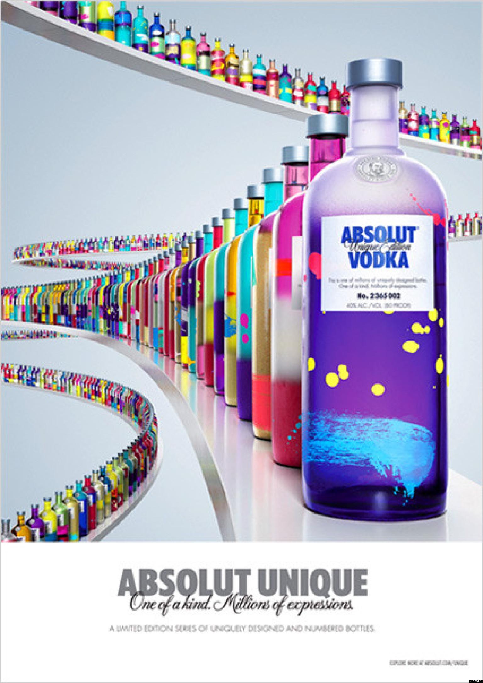 Absolut vodka 39 s 39 unique 39 company releases 4 million one for Unique one