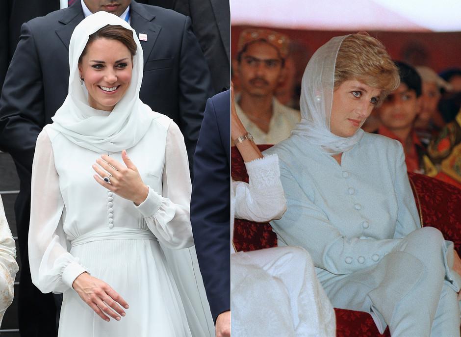 Kate Middleton\'s Headscarf Recalls Princess Diana Circa 1996 ...