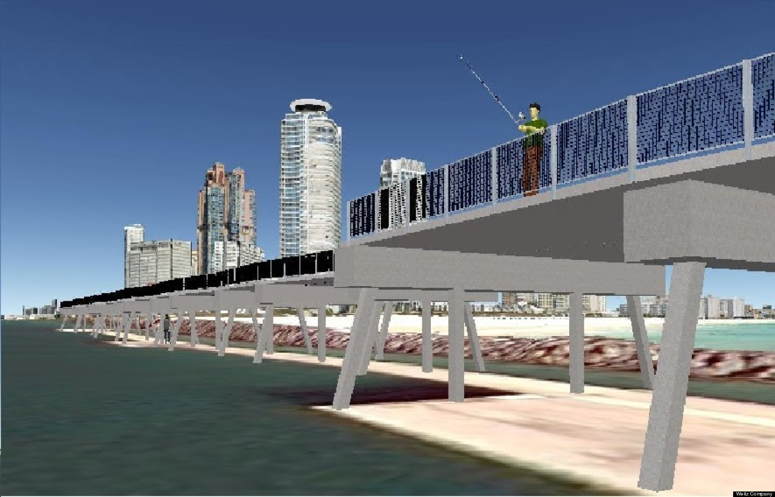 South pointe pier slated for renovation video huffpost for Miami fishing piers