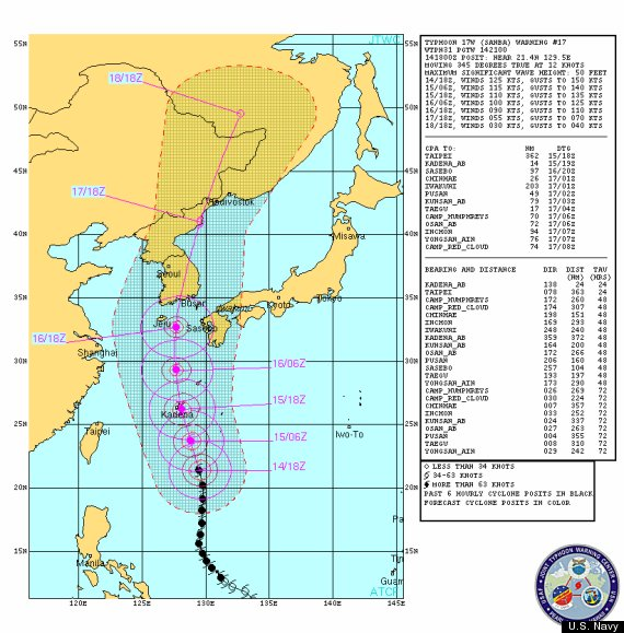 super typhoon japan 2012 path map sanba