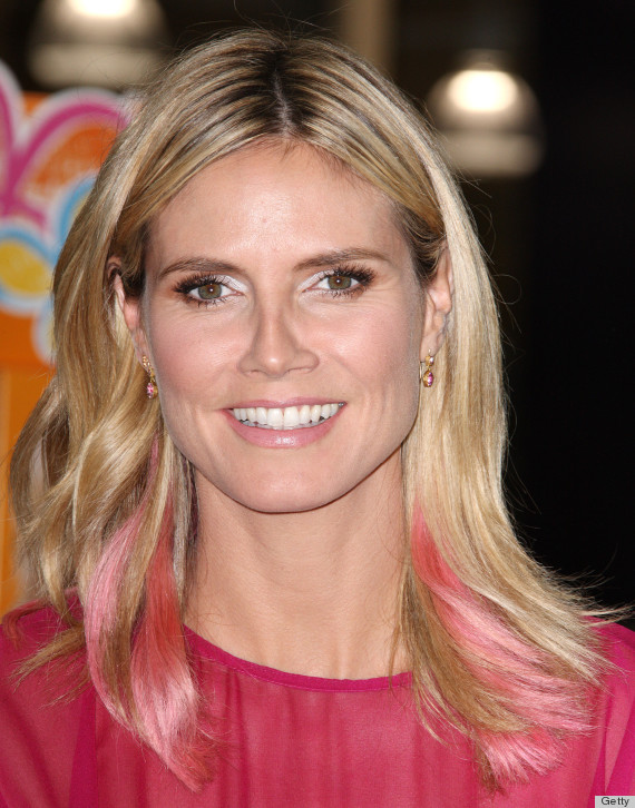 Heidi klum pink hair the supermodel takes the ombre plunge heidi klum hair urmus Images