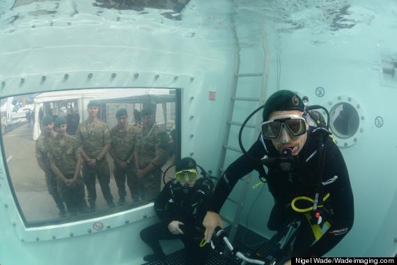 marines underwater