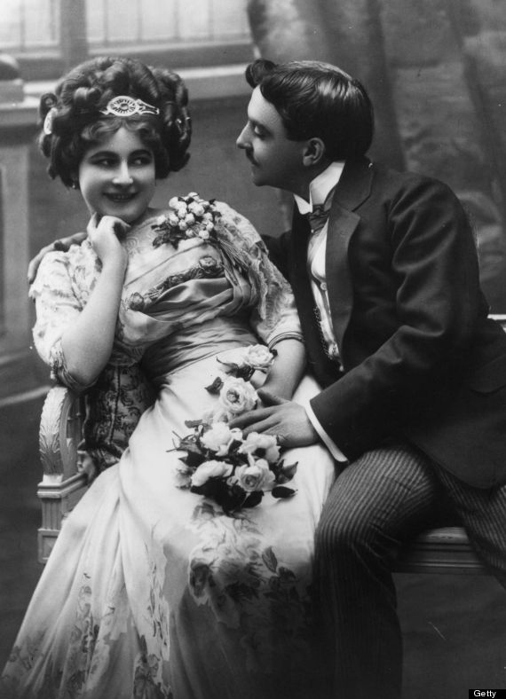 victorian courting couple