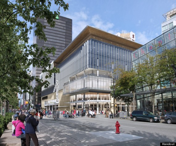 Nordstrom Vancouver Glass Building To Replace Sears Eyesore