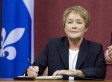 PQ Take Down Canadian Flag As Pauline Marois Takes Oath In Quebec Legislature