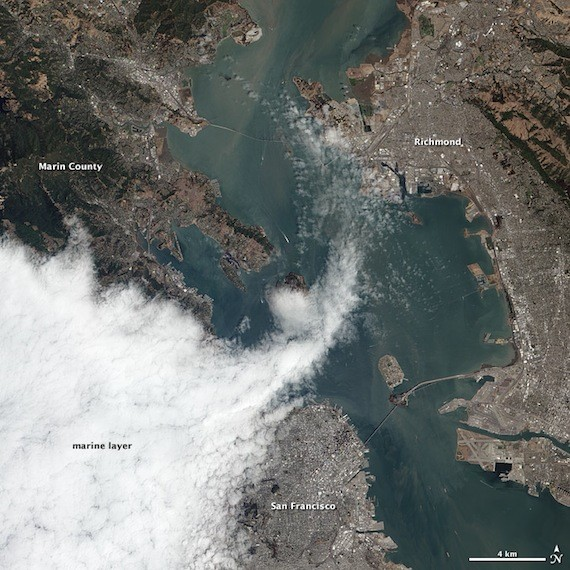 san francisco from space