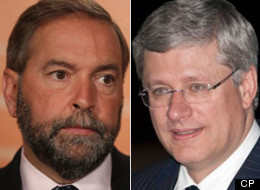 Carbon Tax Mulcair Harper
