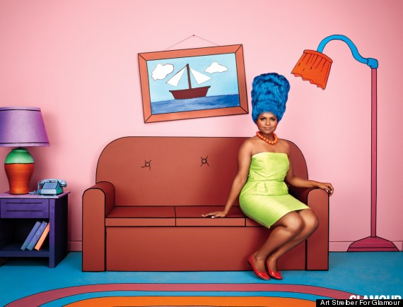 Mindy Kaling Channels Marge Simpson For \'Glamour\' (PHOTO) | HuffPost