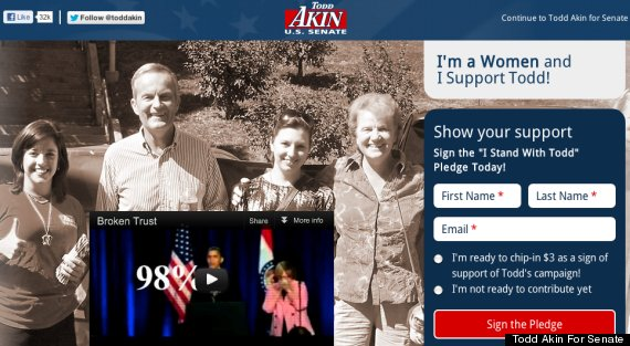 todd akin website typo woman