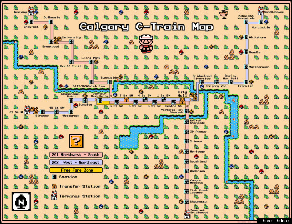 calgary lrt video game map