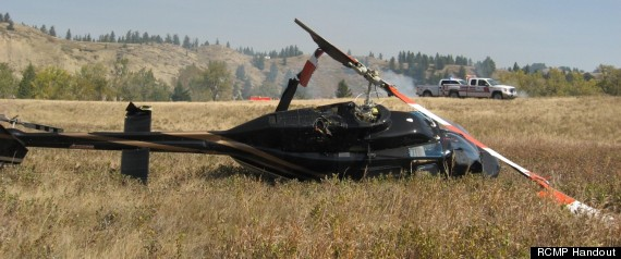 HELICOPTER CRASH PINCHER CREEK