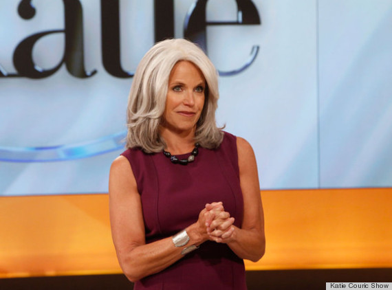 katie couric gray hair