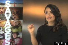 WATCH: Salma Hayek On Playing A Monster In Oliver Stone's New Film, Savages