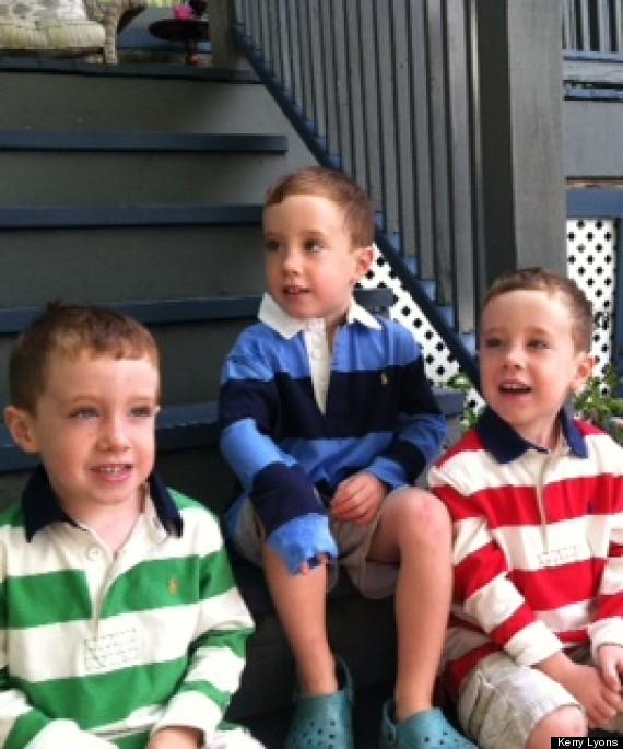 triplets start school