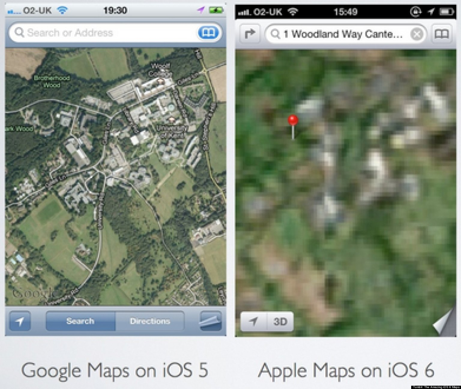Apple Map Fails Ridiculous Glitches Spotted In Apple IOS S - Map of the us weird locations