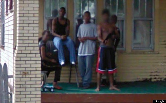 street view gun porch
