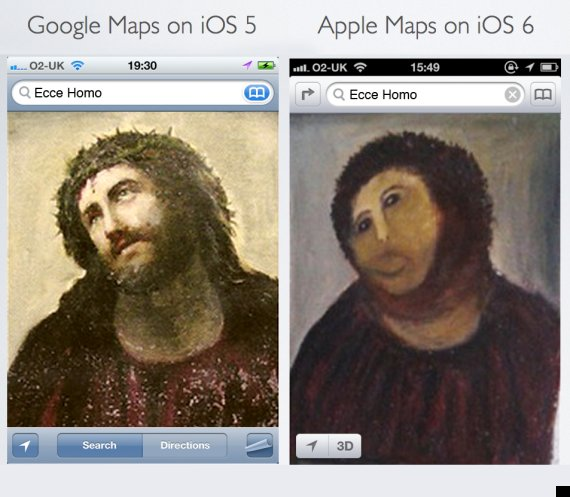 fallos mapas de apple