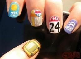 iPhone App-Inspired DIY Nail Art