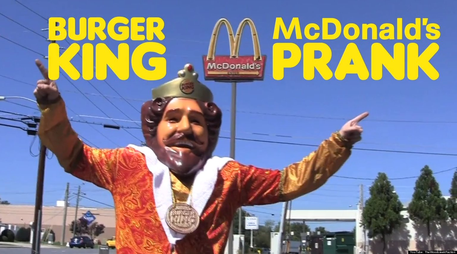 Man Dressed As Burger King Mascot Pranks Mcdonald S Video