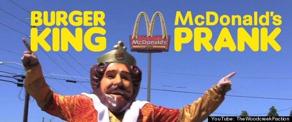 BURGER KING MCDONALDS PRANKBurger King Guy Thumbs Up